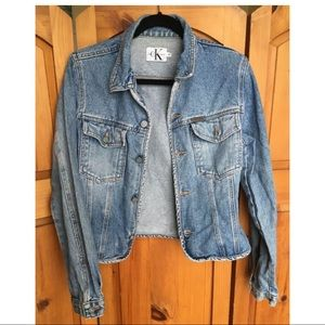 Vtg 90s Calvin Klein Light Wash Denim Jean Jacket